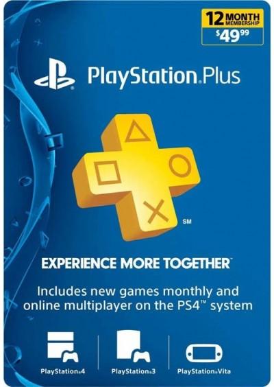 PSN PLUS 12 Meses GIFT CARD Digital EE.UU