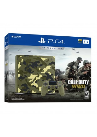 Consola Playstation 4 1 TB SLIM Bundle Call of Duty WWII