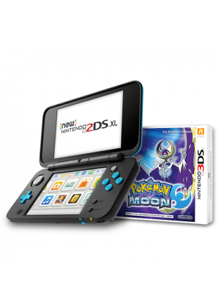 Consola New Nintendo 2DS XL BLACK + Pokemon MOON