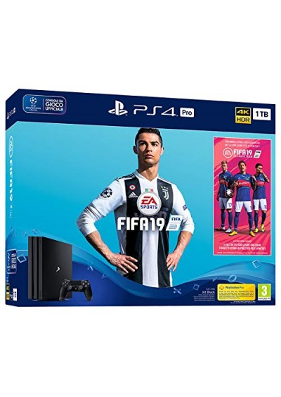 Consola Playstation 4 PRO 1TB Black + FIFA 19