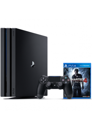 Consola Playstation 4 PRO 1TB Black + Uncharted 4