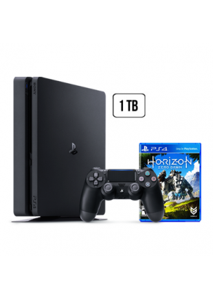Consola Playstation 4 1 TB SLIM Black + Horizon Zero Dawn