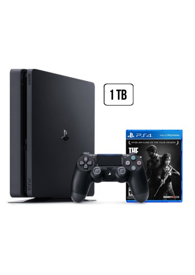 Consola Playstation 4 1 TB SLIM Black + The Last of Us