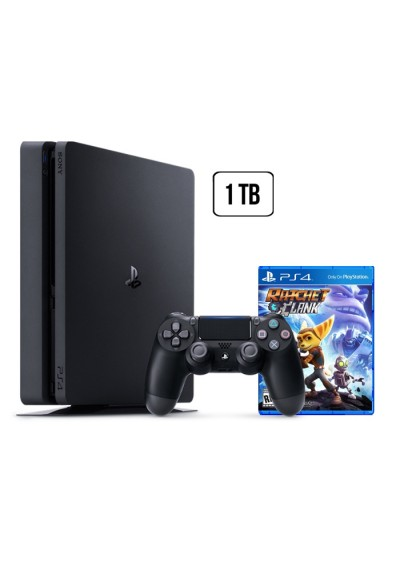 Consola Playstation 4 1 TB SLIM Black + Ratchet And Clank