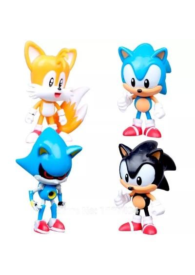 Set 4 Mini Figuras Sonic the Hedgehog