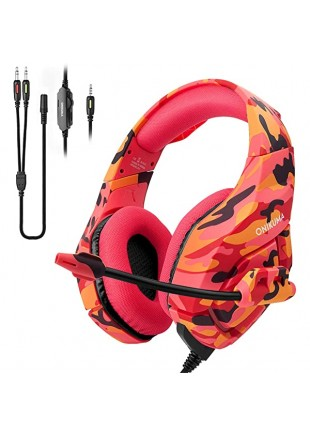 Gaming Headset ONIKUMA K1B Red Camo