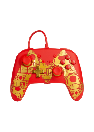 Wired Controller PowerA Mario Golden M NSW