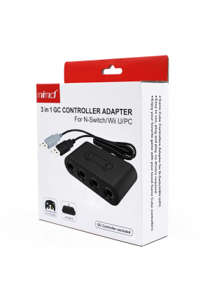 Adaptador para 4 mandos de Gamecube WII U / PC / Switch