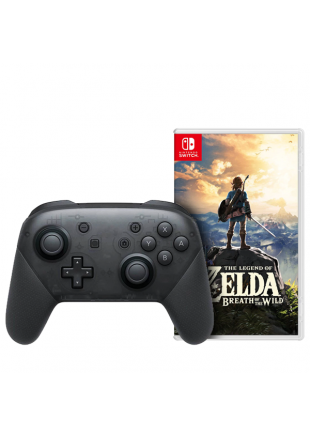 The Legend Of Zelda BOTW + Pro Controller Black OEM