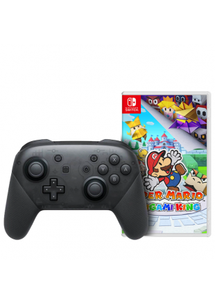 Paper Mario The Origami King + Pro Controller Black OEM