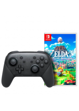 The Legend Of Zelda Link's Awakening + Pro Controller Black OEM