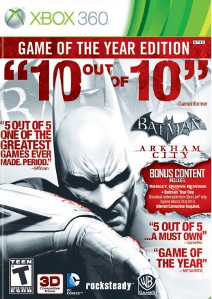 Batman Arkham City Game Of the Year Edition Xbox 360