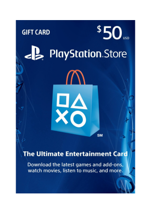 PSN 50 USD GIFT CARD
