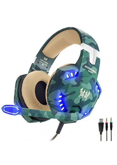 Headset Kotion Each Pro Gaming G2600 Camo PS4/ XBOX ONE/ PC